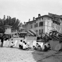 Barricate, strada del Quartiere, 1922