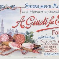 Manifesto pubblicitario dello stabilimento Giusti di Modena, 1920-1930 ca. (Civica Raccolta delle stampe Achille Bertarelli di Milano)