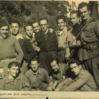 Fig. 15 Settembre 1944. Brigata Vall'Ellero. Prea di Roccaforte [Archivio Istoreto, fondo fotografico Fondazione solidarietà nazionale]