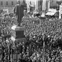 Sfilata dei partigiani, 09-05-1945