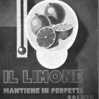 Manifesto esposto alla Mostra internazionale della pubblicità per il consumo dei prodotti agricoli, allestita all'interno della Fiera Campionaria di Milano del 1932 (dalla rivista «Italia agricola», 1932, Biblioteca Passerini-Landi di Piacenza).