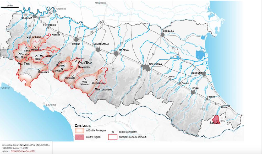 Per una cartografia delle zone libere in Emilia-Romagna