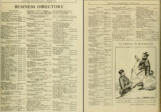 Business Directory, marzo 1936