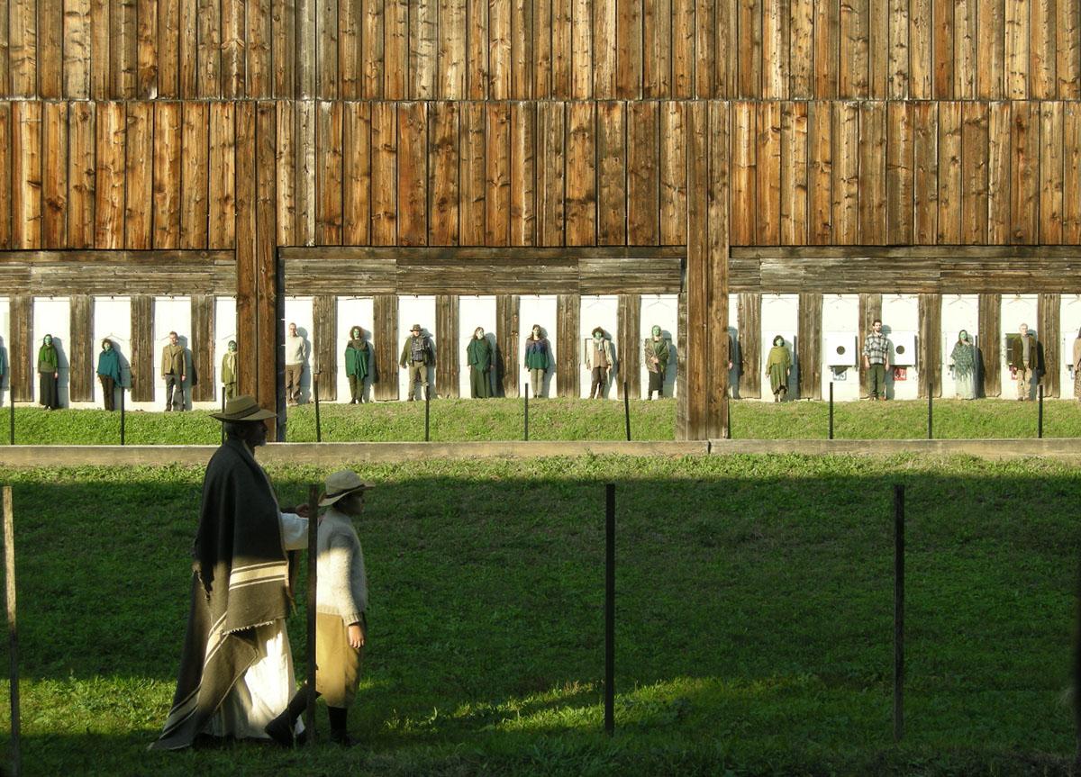 Fig. 4. Pilade di Pasolini, Archivio Zeta al poligono di tiro di Bologna, 2015 (foto: Elena Pirazzoli)