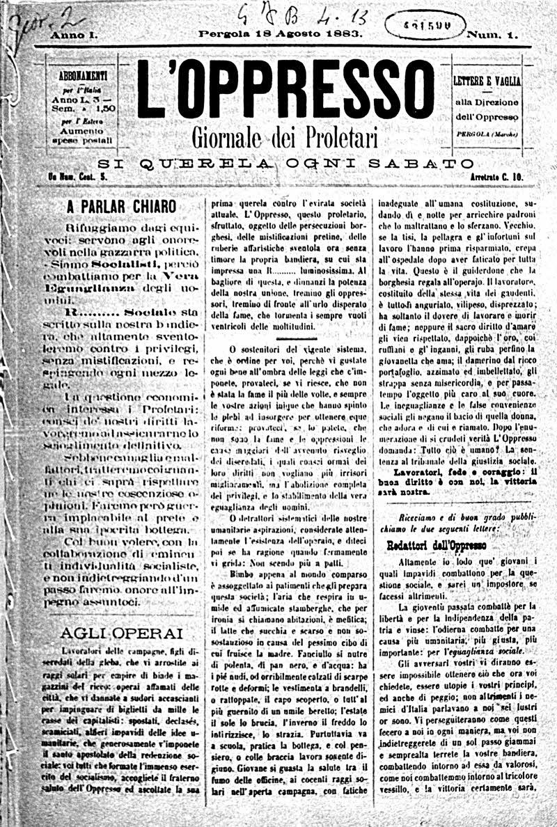 Carta e anarchia una collezione di giornali anarchici for Resoconto tratto da articoli di giornali