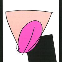 """1989 – Programma dell'iniziativa """"Le linguacce del sesso"""", serata organizzata dalla Fgci modenese dedicata a giovani e sessualità. [art direction Elisabetta Ognibene, copy Francesco Ricci, Avenida"""