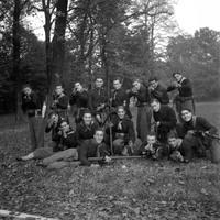 Istruzione premilitare, giardino pubblico, anni '40