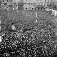 Comizio per la campagna elettorale, 12-04-1948