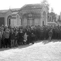 Celebrazione in onore dei caduti per la Liberazione, cimitero della Villetta, 09-05-1945