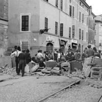 Barricate, via N. Bixio, 1922